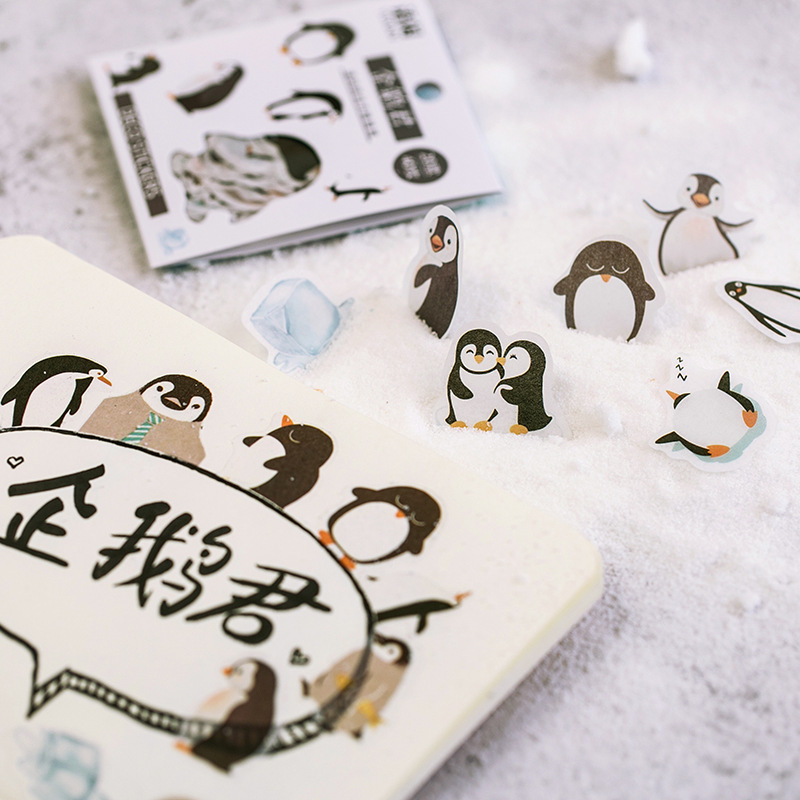 Kawaii Pet Penguin Cat Pig Decorative Stickers Adhesive Stickers DIY Decoration Diary Japanese Stationery Stickers Children Gift