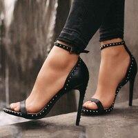 Sexy Ladies High Heels Women Shoes 2019 Summer Shoes Women Pumps Woman Party Shoes Super High Heel 11.5cm YX709