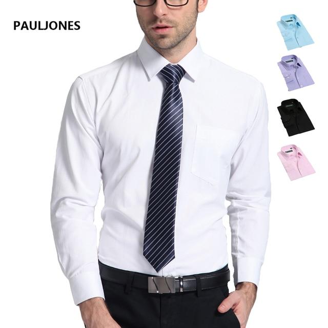 Мужская марка рубашки платья Высокого качества полосатые рубашки с длинным рукавом Классический легкий уход бизнес Формальные рубашки мужчины Camisa Masculina