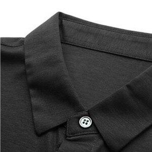 Image 3 - 2019 חדש בכיר קיץ מותג חולצה גברים עסקים קצר שרוול חולצה רופף דק כותנה חולצה זכר אופנה מוצק צבע מגמה tees