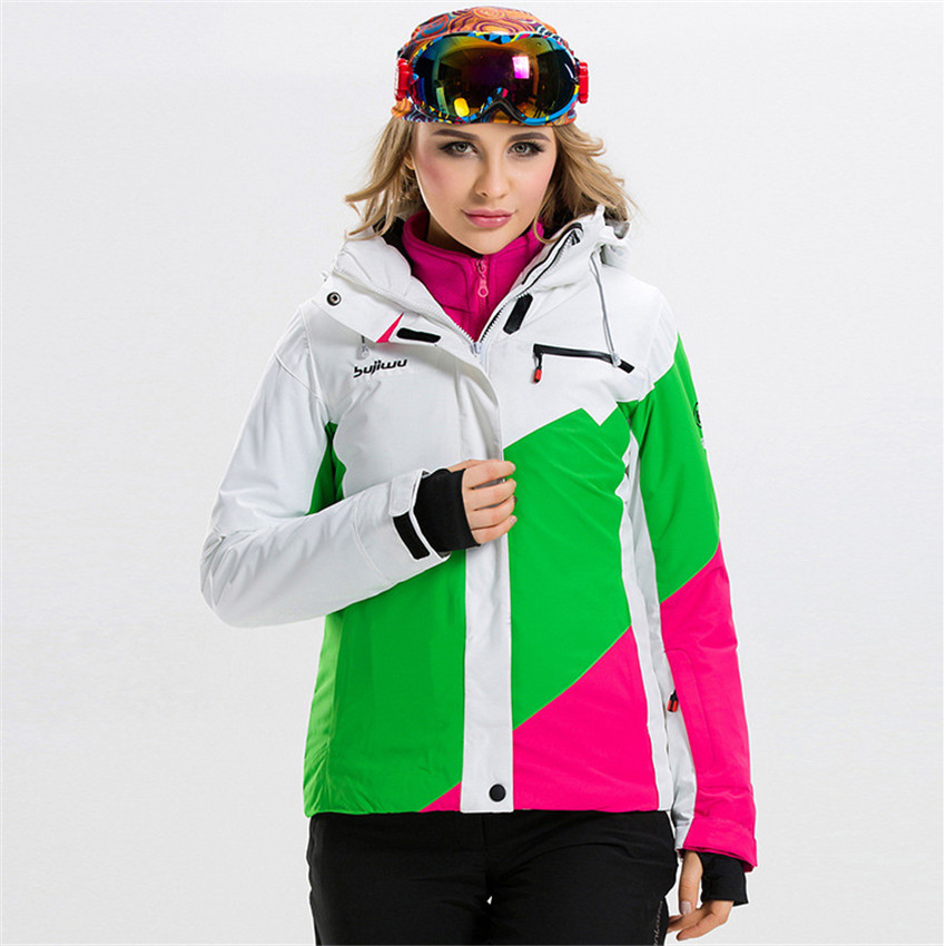 Winter outdoor sports ski jacket windproof waterproof breathable warm high quality female models ski suits for free shopping high quality gsousnow fashion women skiwear waterproof windproof breathable outdoor snowboard jacket color matching models 1401
