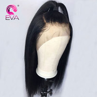 Eva Straight Full Lace Human Hair Wigs Pre Plucked Hairline With Baby Hair Glueless Lace Wig For Black Women Brazilian Remy Hair