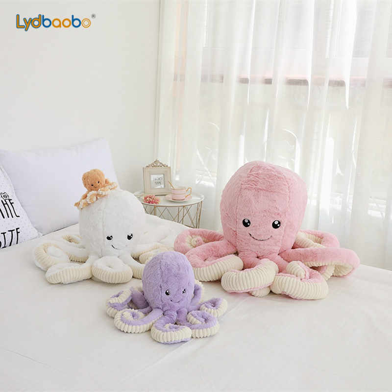 40/60cm Kawaii Octopus Plush Toys Octopus Whale Dolls Stuffed Soft Pillow Sea Animal Toys Children Baby Christmas Gifts Home Dec
