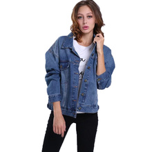 Autumn jacket girls 2017 new informal girls fundamental coats lengthy sleeve denim jacket style girls coat embroidery jean jacket