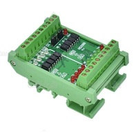 8 way conversion module 4 in 4 out TTL signal and PLC signal mutual conversion module high and low level can be selected