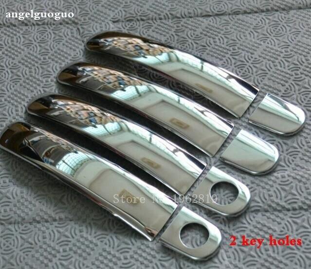 Prix pour Pour 2007-2013 Skoda Octavia A5 en acier inoxydable manche de porte trim moulage autocollants de voiture accessoires