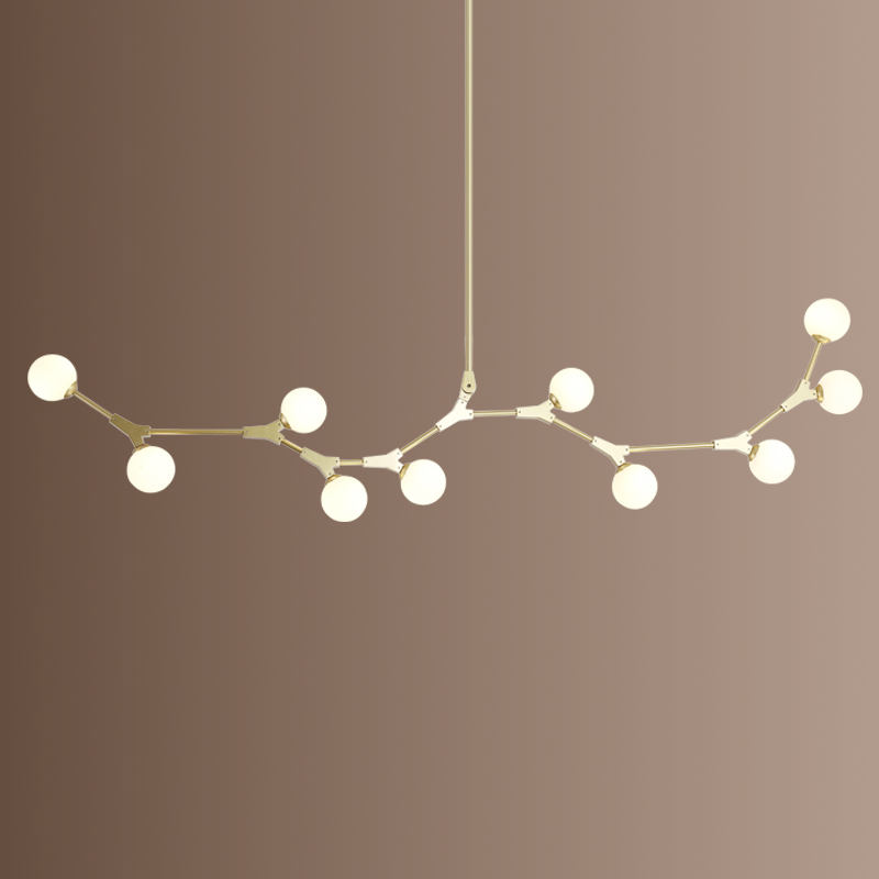 Postmodern LED chandelier living room Glass suspended lighting deco fixtures dining hanging lights Nordic bedroom pendant