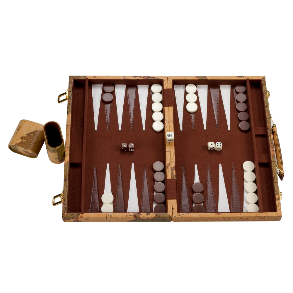 Wooden backgammon set traveling toys 15 inch large folding wooden backgammon set traveling toys 15 inch large folding portable luxury pu leather box fashion world map design in math toys from toys hobbies on publicscrutiny Choice Image