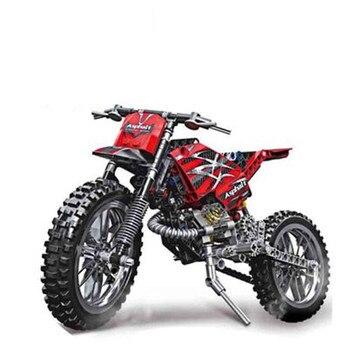 253 قطع موتو عبر اللبنات الدراجة النارية نموذج للتربية diy الطوب متوافق مع تكنيك legoinglys دروبشيبينغ