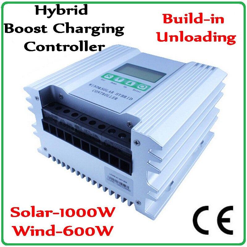 Boost Charging Function Wind Solar Hybrid Controller Regulator For12V/24V  0~1000W Solar Panels & 0~1000 Wind Turbine