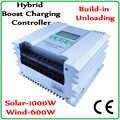 Impulso de carregamento função vento solar controlador híbrido regulador for12v/24 v 0 panels 1000 w painéis solares & 0 turbine 1000 turbina eólica