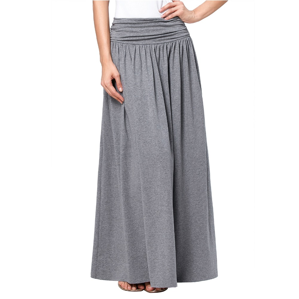 buy wholesale grey maxi skirt from china grey maxi
