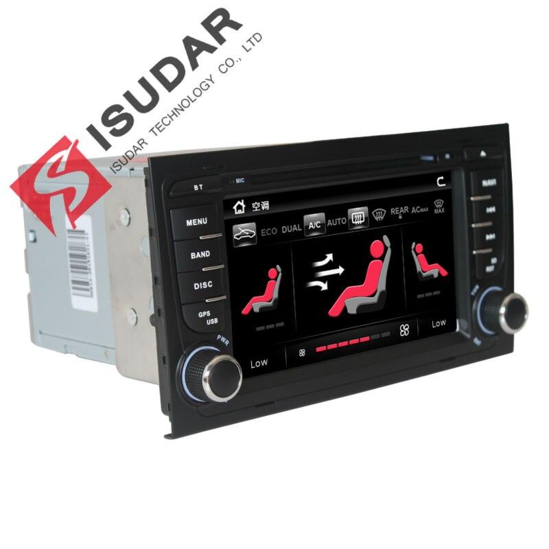 imágenes para Pantalla capacitiva de 7 Pulgadas Dos Din A4 Coches Reproductor de DVD de Audio Audi Radio de Navegación GPS Bluetooth 1080 P 3G Host USB Ipod Libre mapa