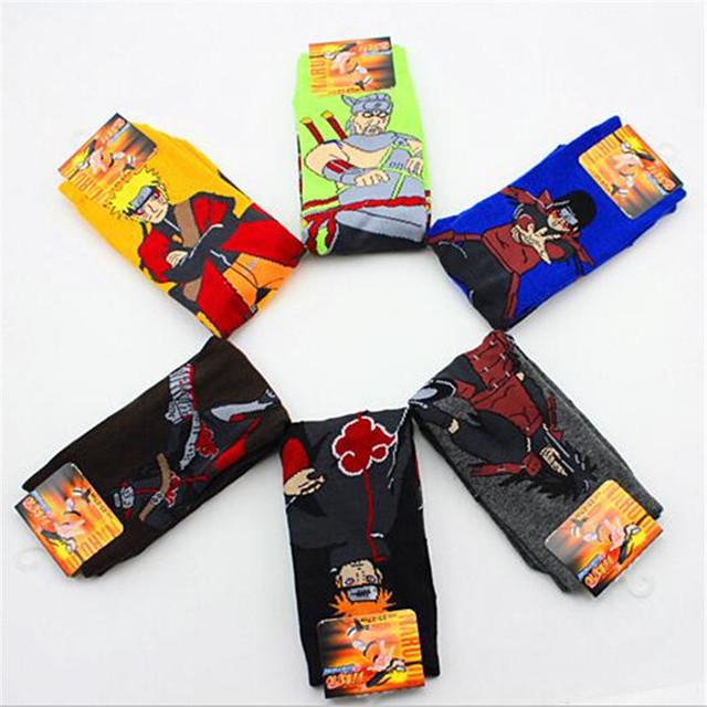 Anime dibujos animados NARUTO periféricos adultos calcetines personalidad Cosplay accesorios calcetines hombres y mujeres medio tubo Calcetines