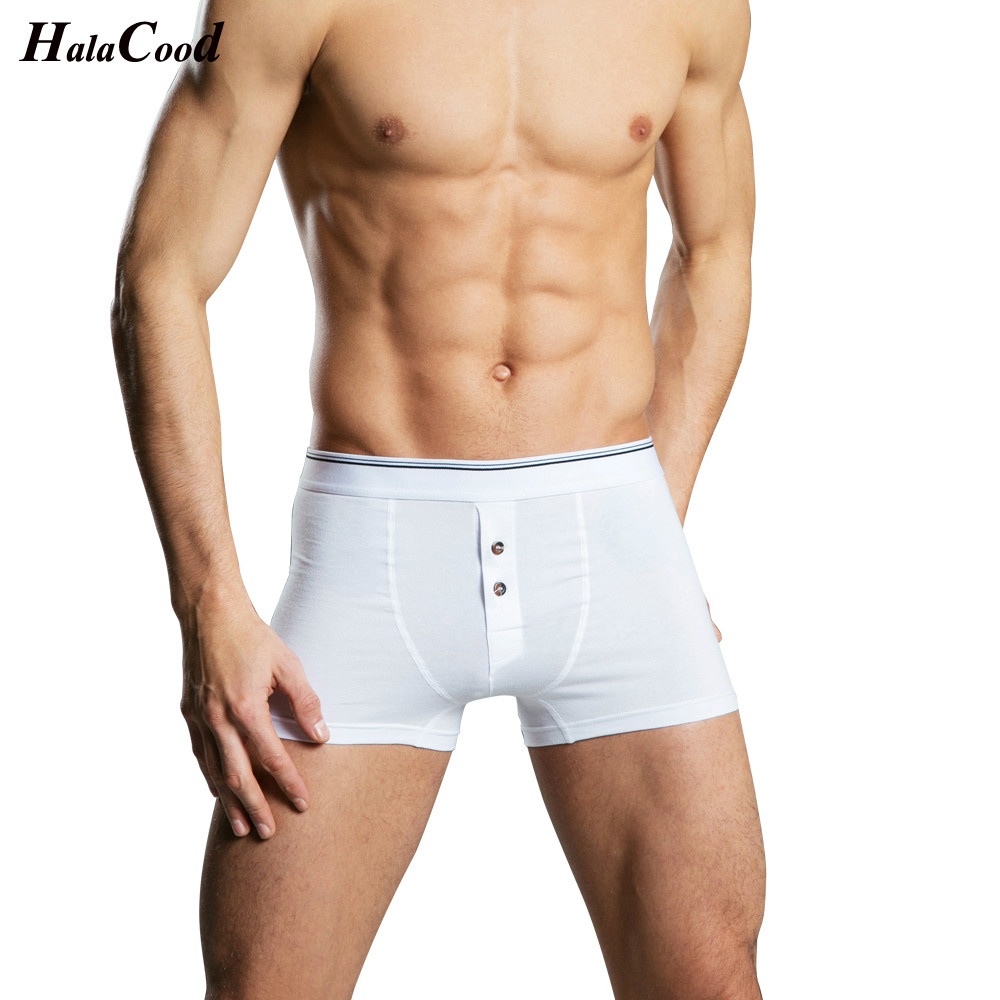 2019 New Products Explosive Men's Cotton Underwear Fashion Comfortable Trends Breathable Section Solid Color Men's Boxers Shorts