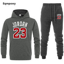 15eab3a0039 23 Jordan brand sporting suit men warm hooded tracksuit track men's sweat  suits set letter print