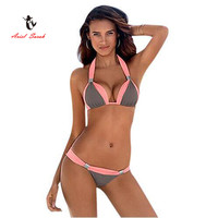 2016 New Sexy Bikinis Women Swimsuit Low Waisted Bathing Suits Swim Push Up Bikini Set Beach