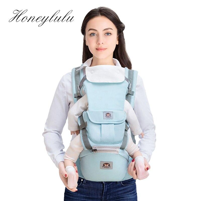 Honeylulu Combined Detachable Backplane Baby Carrier Multifunction Sling For Newborns Kangaroo Ergoryukzak Hipseat Backpack