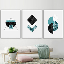 Marble Geometric Wall Art Canvas Painting Nordic Posters And Prints Pop Pictures For Living Room Decor