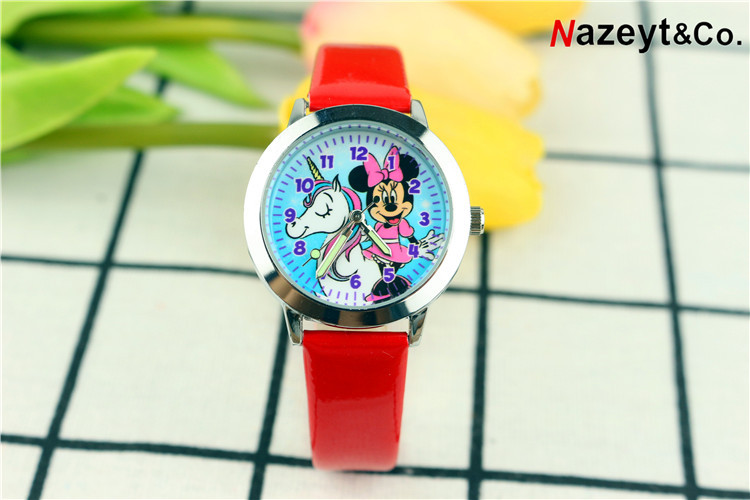 Giá bán 2020 children cute cartoon unicorn with mickey watch fashion pupil noctilucent quartz strap watch