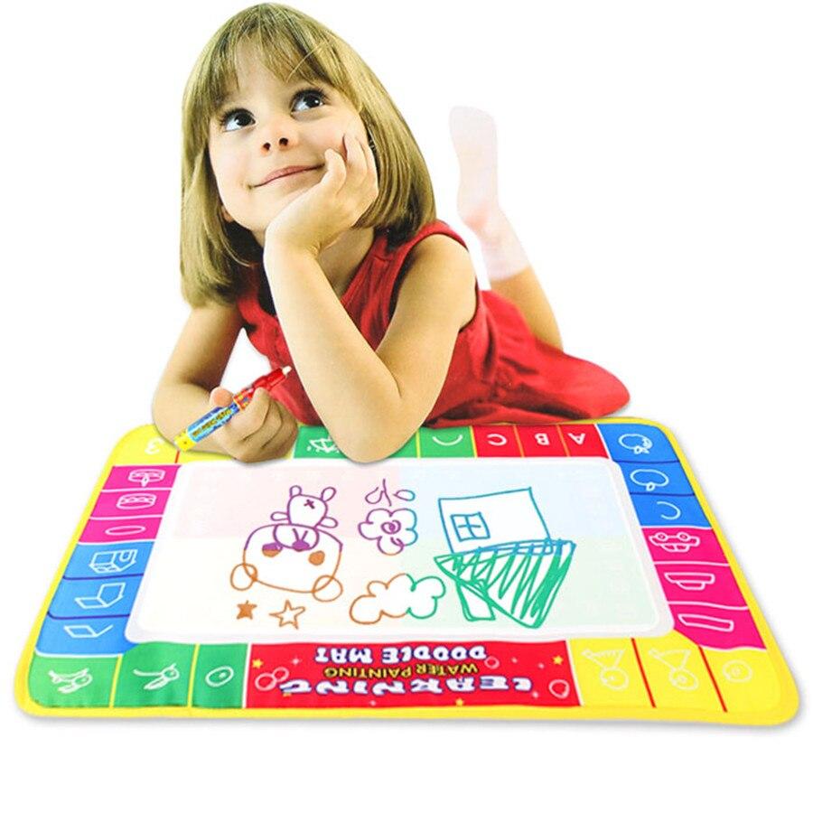 Лидер продаж Новые Полезные для маленьких детей 72X49 см воды Рисунок Живопись мат плате Magic Pen Doodle игрушка в подарок трассировки никогда не на...