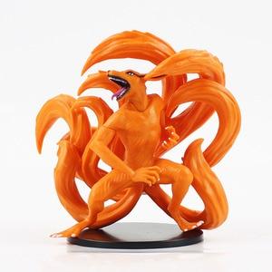 Image 4 - 2pcs/Lot Naruto Figure Toy Tailed Beast Shukaku Kurama Kyuubi Animal Model Dolls Children Gift