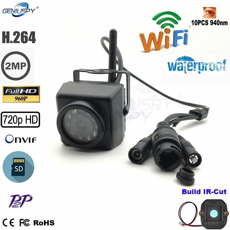 Camhi 1.3MP 960 P Mini étanche IP66 TF fente pour carte IR Vision nocturne caméra IP Wifi en plein air pour voiture et véhicule flotte et nid d'oiseau