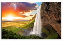 цена на Customphoto wallpaper 3d murals wallpaper Landscape waterfall water 3D mural landscape background wall decoration living room