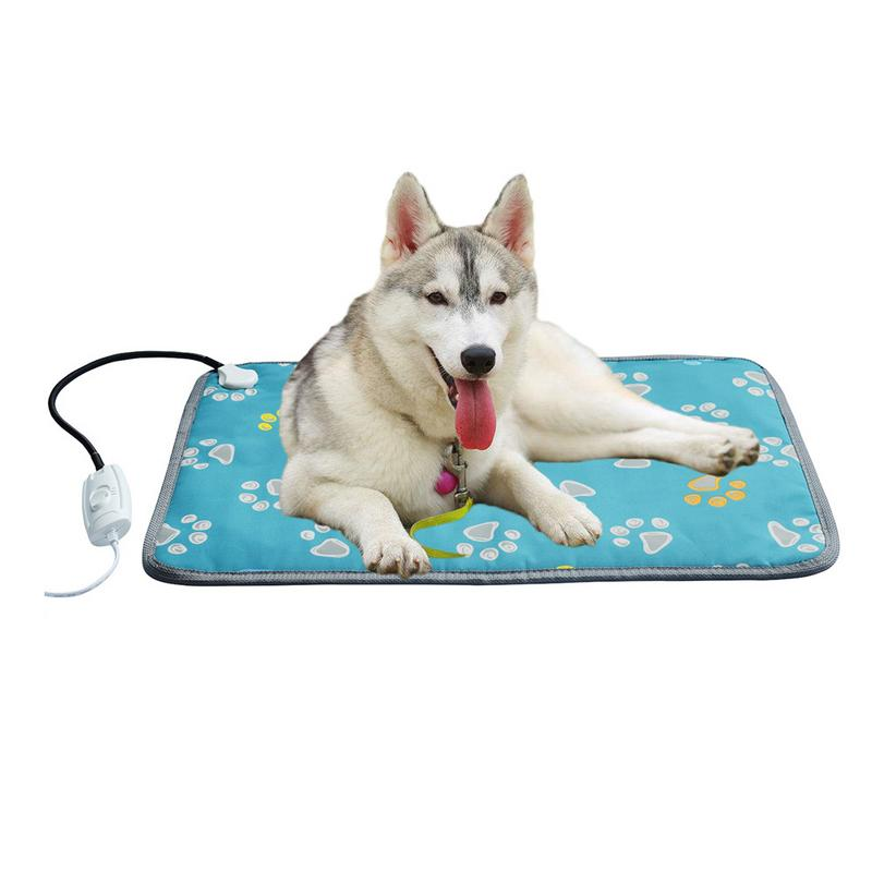 220V Pet Heating Mat Indoor Waterproof Dog Mat Beds Warm Temperature Adjustable Warm Pad Anti-bite Anti-chewing Mat