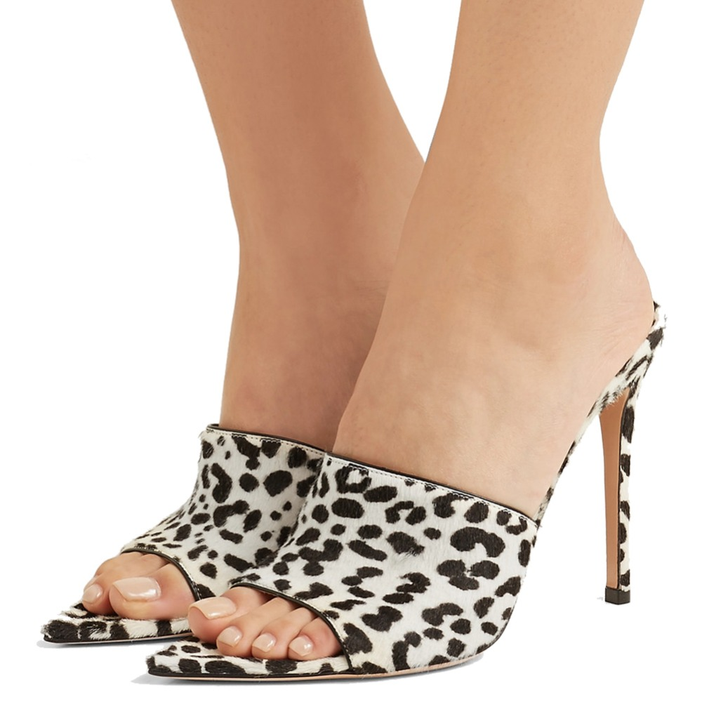 white leopard pointed toe mules (2)