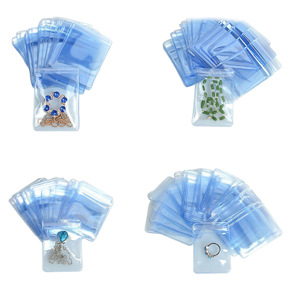 15*15cm Transparent PVC Jewelry Anti-oxidation Bag Plastic Self Seal Ziplock Craft Jade Anti-tarnish Storage Package Poly Pouch