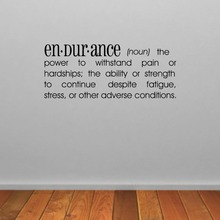 Endurance Dictionary Definition Wall Sticker Gym Wall Decal Gym Quote Wall Art Fitness Decoration vinilos paredes