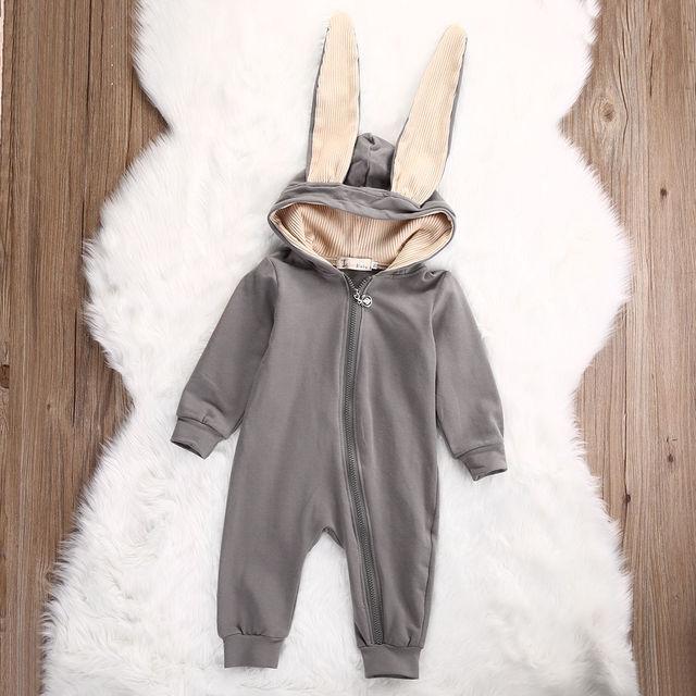 Baby Girl Boy 3D Bunny Ear Romper Jumpsuit