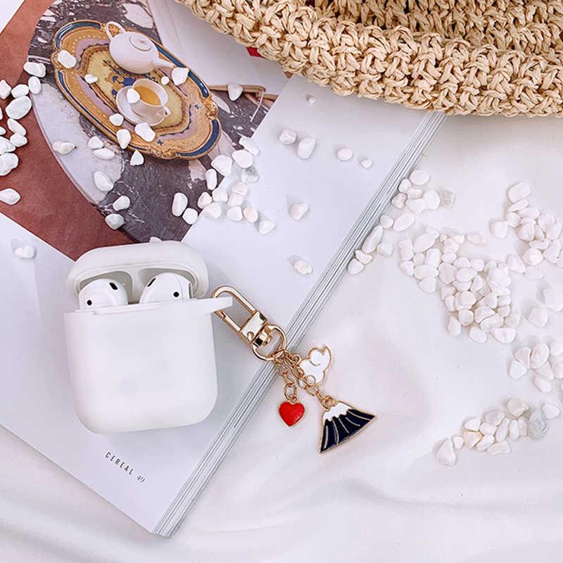 Funda de silicona decorativa de montaje japonés de lujo Fuji para Apple Airpods auriculares Bluetooth accesorios 1 2 funda protectora
