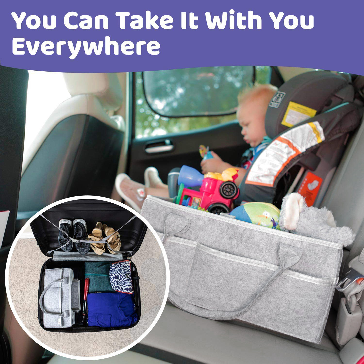 HTB1pPPiXPzuK1Rjy0Fpq6yEpFXaH Baby Diaper Caddy Organizer Portable Holder Bag for Changing Table and Car, Nursery Essentials Storage bins 38*23*18cm