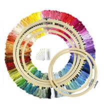 5 Pcs Bamboo Embroidery Hoops With 100 Colors Skeins Embroidery Thread Floss Cross Stitch And Needles Sewing Supplies Durable джемпер pavli pavli mp002xw0ydv8