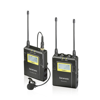 Saramonic UwMic9 Broadcast UHF  Wireless Lavalier Microphone System Transmitters +One Receiver for DSLR Camcorder Tour Guiding