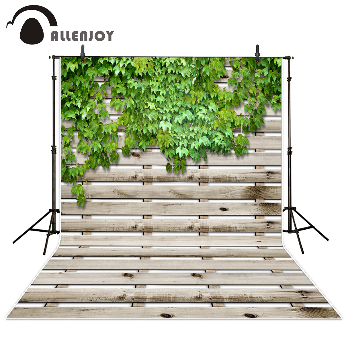 Online get cheap fence designs wood aliexpress alibaba group allenjoy vinyl backdrops for photography green plants wooden fence pastoral nature custom original design photography backdrops baanklon Choice Image
