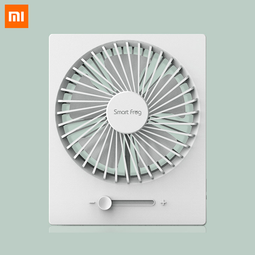 Newest Xiaomi Smartfrog Foldable Mini Fan Stepless Wind Handheld Cool Summer Fan 5W 5V USB Rechargeable Fan For Home Travel