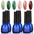 Candy Lover Glitter nail polish Lacquer set wholesale 6pcs/loto 8ml Soak-Off Gel Polish Nail Art UV LED Lamp Color Varnish