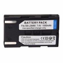 1Pcs 1000mAh SB-LSM80 Repalcement Camera Battery For Samsung VP-DC161 VP-DC163 VP-DC165WB VP-DC565WBi VP-DC563i SC-D351 SC-D353