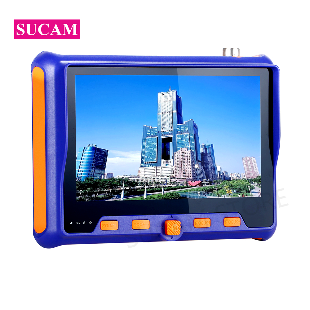 SUCAM Newest 5MP Analog CCTV Tester 5 Inch LCD Screen Monitor Audio Video PTZ Test For 4 In 1 AHD CVI,TVI CVBS Camera Testing
