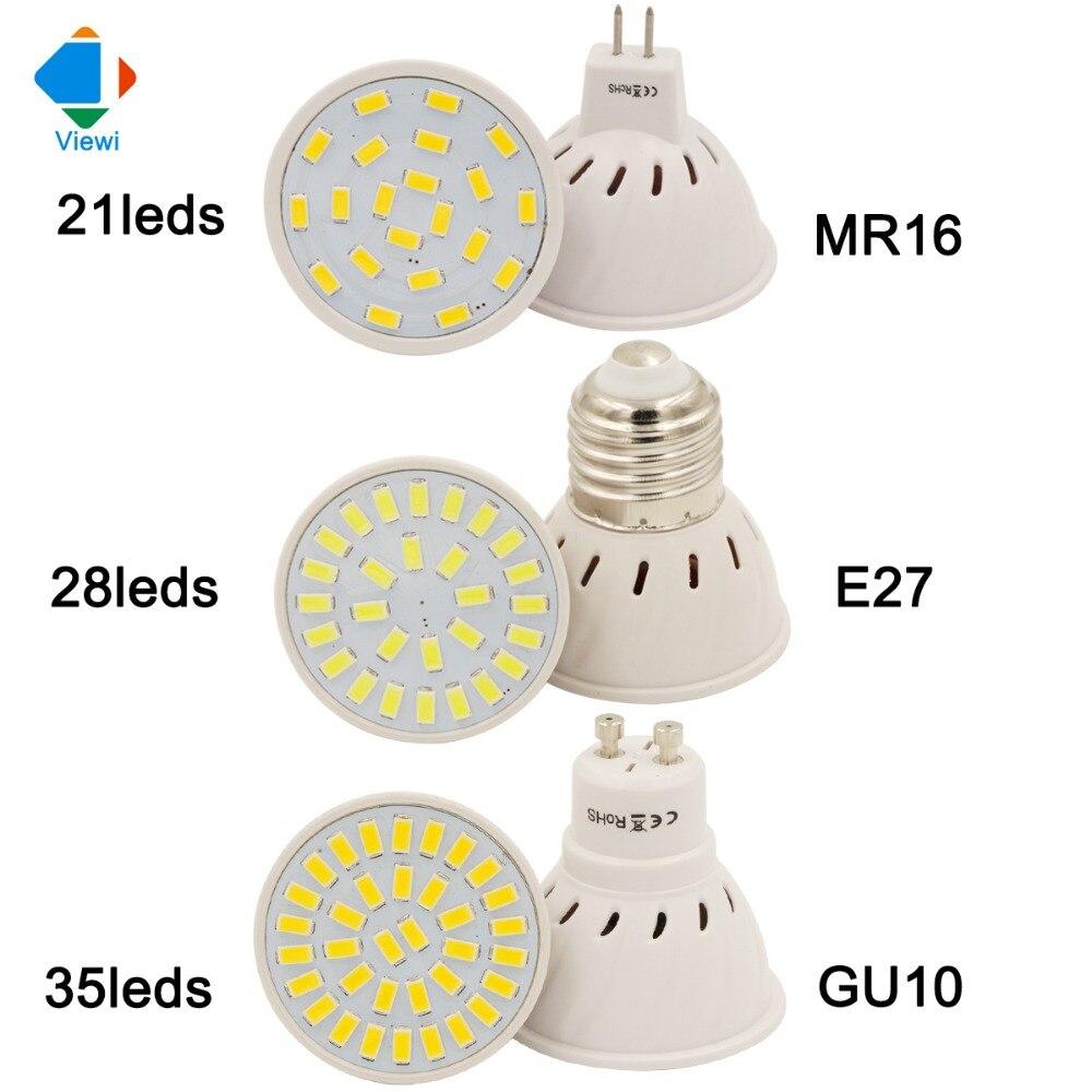 5x bombillas led e27 gu10 mr16 spotlight smd5733 21leds - Bombilla led gu10 ...