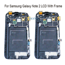 Y-HOIVA For Samsung Galaxy Note 2 N7100 N7105 100% New Super AMOLED LCD Touch Screen Digitizer Display With Frame Assembly