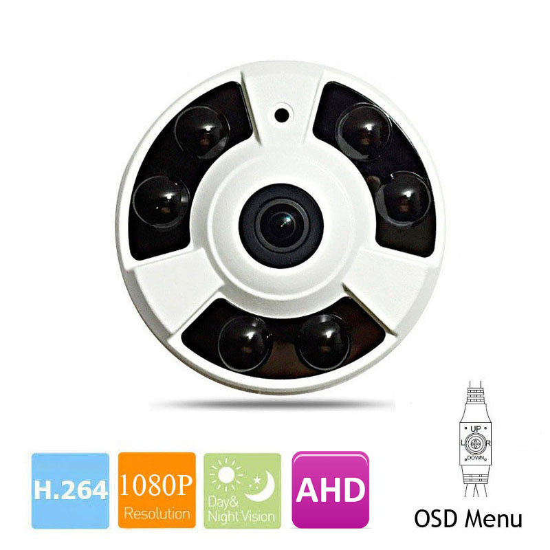 Analog HD Panoramic 360 Degree CCTV AHD Camera 2.0MP 4mp 5mp 1080P Fisheye Panorama Security Camera IMX323 IR Night OSD MenuAnalog HD Panoramic 360 Degree CCTV AHD Camera 2.0MP 4mp 5mp 1080P Fisheye Panorama Security Camera IMX323 IR Night OSD Menu