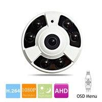 Analog HD Panoramic 360 Degree CCTV AHD Camera 2.0MP 4mp 5mp 1080P Fisheye Panorama Security Camera IMX323 IR Night OSD Menu