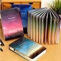 Cuaderno del diario de la cubierta de papel De Estaño de color caliente 144 hojas Noche Silenciosa libro Cuaderno Libreta Creativa Oficina de Útiles Escolares de Regalo