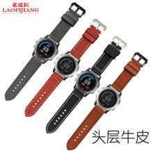 Laopijiang derek garmin Fenix 3 venda de reloj de 26mm correa de cuero de caballo loco reloj 3 colores