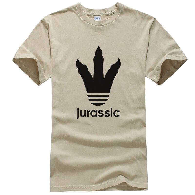 Fashion Summer Jurassic Park Dinosaur Feet Creative Design Printed   T  -  Shirt   Men   T     Shirt   Short Sleeve O-Neck Cotton Cool Tees T245