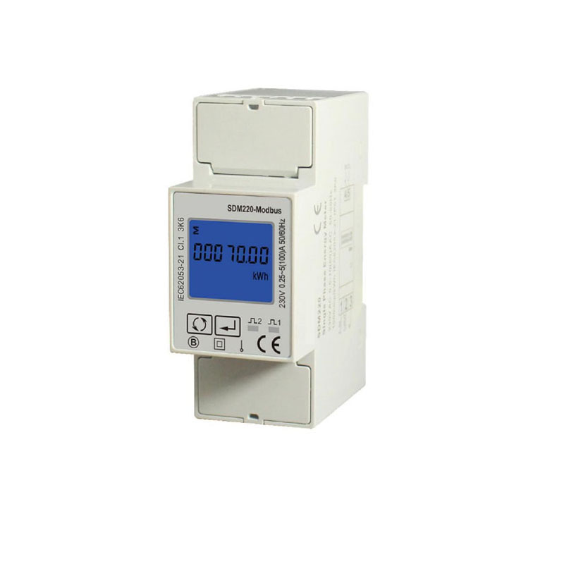 Single Phase 230V Din Rail Meter , Electricity Kwh Meter, Multi-function Energy Meter with RS485 Modbus output SDM220 MODBUS three phase din rail digital multifuntion meter with rs485 communication programmable kwh meter
